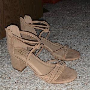 Beige small heels